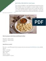 Arisi Upma Recipe