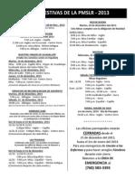 MISAS FESTIVAS DE LA PMSLR - 2013