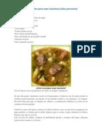 Ingredientes Para Sopa Huachana