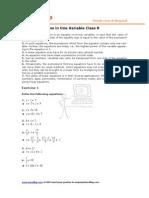 8 Math Linear Equations