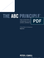 The ABC Principle - How to think like a true entrepreneur so you can achieve unlimited success!