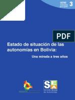 Estado de situación de las autonomías en Bolivia