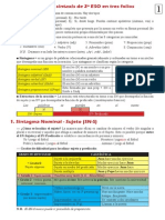Apuntes de repaso sintaxis 2º ESO