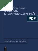 Uchla Ioannis Scythopolitani Prologus Et Scholia in Dionysii Areopagitae Librum de Divinis Nominibus Cum Additamentis Interpretum Aliorum 2011