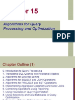 Algorithms for Query Processing and Optimization