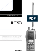Icom Ic-V8 Manual