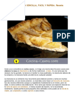 Tarta de Manzana Sencilla