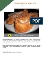 Torrijas de Leche Caseras