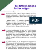 Fatores de diferenciação do latim vulgar