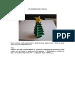 Arvore de Natal Em Origami