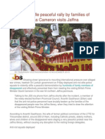 Elite Police Stifle Peaceful Rally by Families of Disappeared as Cameron Visits Jaffna