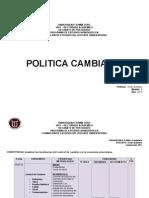 Planificacion Politica Cambiaria