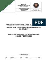 Analisis de Falla Por Tenacidad Para Un Oleoducto
