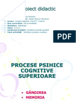 Lectie Sustinuta La Psihologie.gandirea CA Proces Psihic Cognitiv