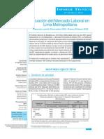 Situacion Del Mercado Laboral en Lima Metropolitana