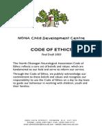 nona code of ethics 2003