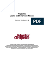 VHDL Write User.s and Reference Manual