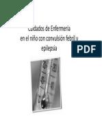 Fiebre y Convulsiones en Pediatria_2013