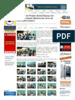 SiteBarra » Crianças do Projeto Social Espaço da Alegria recebem diploma de curso de informática básica