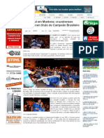 SiteBarra » Festa azul em Mantena_ cruzeirenses comemoram título de Campeão Brasileiro