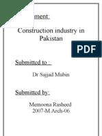 Construction Industry in Pakistan