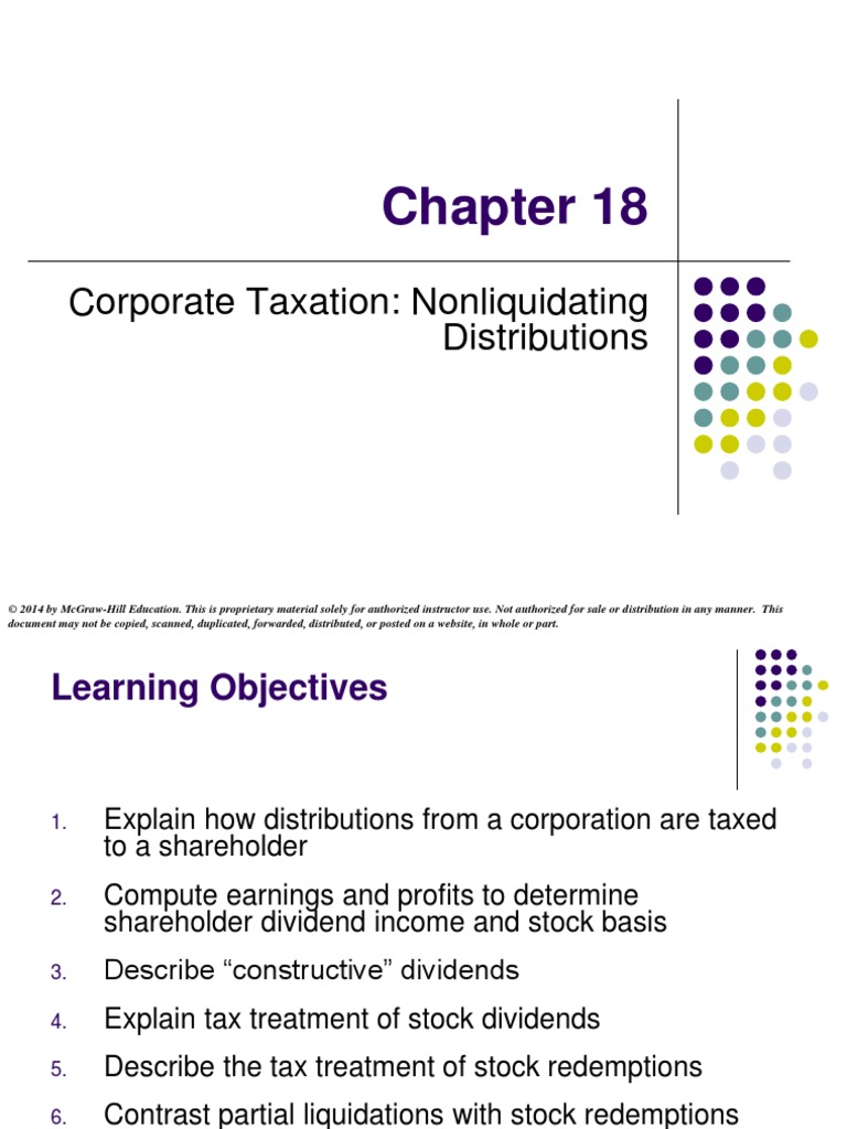 Corporate taxation nonliquidating distributions