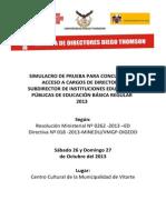 Simulacro Escuela de Directores Diego Thomson