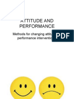 Attitude and Performance Ppt