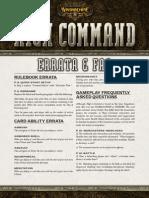 Warmachine High Command Errata