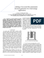 2005 Analytical Modeling of an Axial Flux Permanent Magnet Synchronous Generator for Wind Energy Application