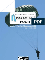 Journal of British and Irish Innovative Poetry (Abstracts)