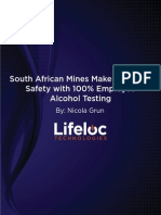 South African Mining Alcohol Abuse Safety