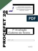 PROCEFET 2006 - CADERNO TEXTOS - 1ª AVALIACAO