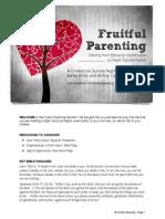 Fruitful Parenting Seminar-Participant
