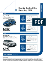 Hyundai Comparison July 09