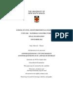 CVEN2302 Final Exam S2 2012