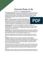 AGA Concise Rules