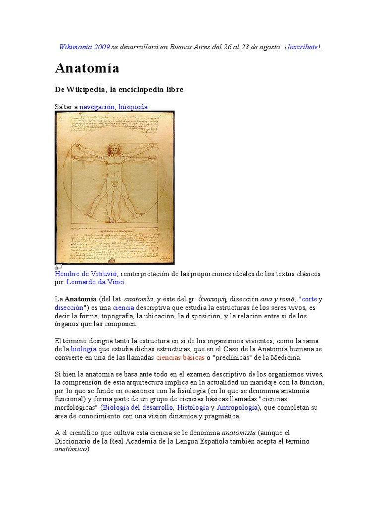 Biologia Y Ciencias De La Salud Anatomía Ciencias De La