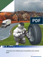 Presiones de Inflado Ncos de Camión Michelin 2009 ESP