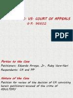 arroyo, jr. vs. CA