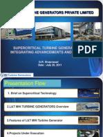SupercriticalTurbineGenerators IntegratingAdvancementsExperience GRSivaprasad MHITurbineGenerators