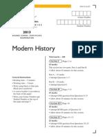 2013 Hsc Modern History