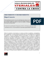 Amorós, Miguel - Crecimiento y decrecimiento [2009]sociologia