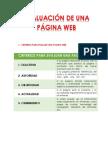 EVALUACIÓN DE UNA PAGINA WEB