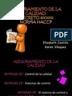 HACCP-Aseguramiento de La Calidad