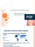 Indicele Dezvoltarii Umane (IDU)