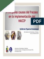 HACCP-Causas Del Fracazo