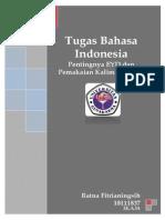 Makalah Bahasa Indonesia (EYD Dan Kalimat Efektif)