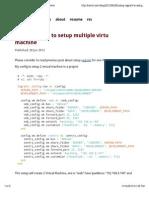 Using Vagrant to Setup Multiple Virtual Machine