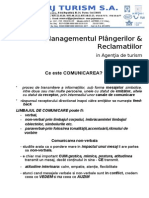 Managementul Plangerilor Si Reclamatiilor